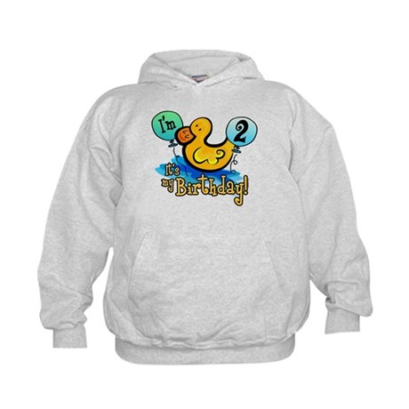 Ducky Birthday 2nd Kids Hoodie