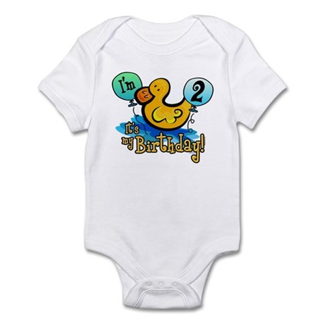 Ducky Birthday 2nd Infant Bodysuit