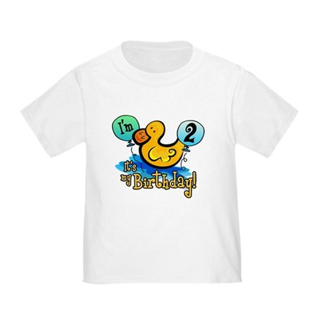 Ducky Birthday 2nd Toddler T-Shirt