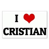 I Love CRISTIAN Rectangle Decal