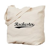 Vintage Rochester (Black) Tote Bag