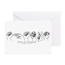 Sign of Thanks Greeting Card
