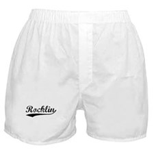 Vintage Rocklin (Black) Boxer Shorts