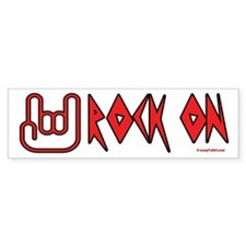 Rock On Bumper Bumper Sticker