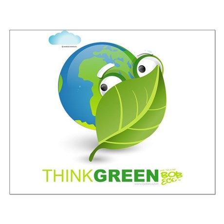 Think Green Small Poster