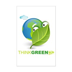 Think Green Mini Poster Print