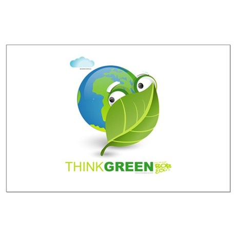 Think Green Large Poster