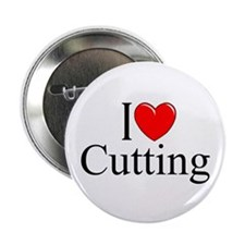 """I Love Cutting"" 2.25"" Button"