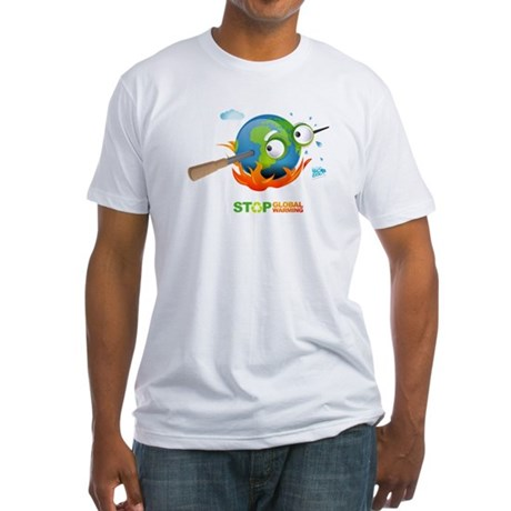 Earth Skewer Fitted T-Shirt