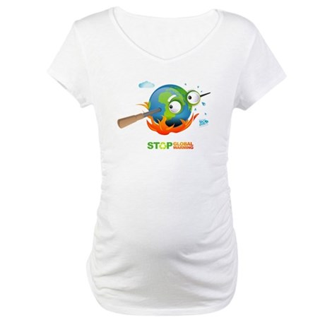 Earth Skewer Maternity T-Shirt