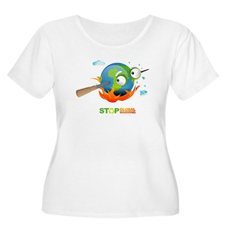 Earth Skewer Women's Plus Size Scoop Neck T-Shirt