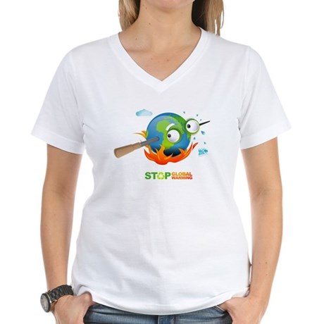 Earth Skewer Women's V-Neck T-Shirt
