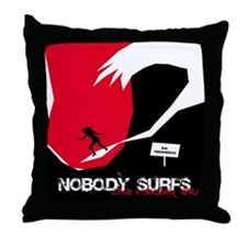 Nobody Surfs Like a Jersey Girl Throw Pillow