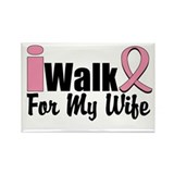 iWalk For My Wife Rectangle Magnet (10 pack)