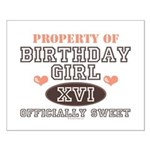 Property Of 16th Birthday Girl Small Poster