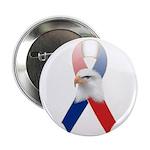 """Patriotic Ribbon w/Eagle #3 2.25"""" Button"""