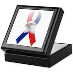 Patriotic Ribbon w/Eagle #3 Keepsake Box