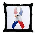 Patriotic Ribbon w/Eagle #3 Throw Pillow