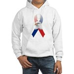 Patriotic Ribbon w/Eagle #3 Hooded Sweatshirt