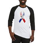 Patriotic Ribbon w/Eagle #3 Baseball Jersey