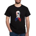Patriotic Ribbon w/Eagle #3 Dark T-Shirt