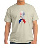 Patriotic Ribbon w/Eagle #3 Light T-Shirt
