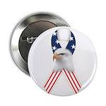 """Patriotic Ribbon w/Eagle #2 2.25"""" Button"""