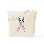Patriotic Ribbon w/Eagle #2 Tote Bag