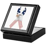 Patriotic Ribbon w/Eagle #2 Keepsake Box