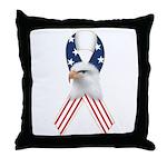 Patriotic Ribbon w/Eagle #2 Throw Pillow
