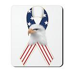 Patriotic Ribbon w/Eagle #2 Mousepad