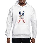Patriotic Ribbon w/Eagle #2 Hooded Sweatshirt