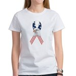 Patriotic Ribbon w/Eagle #2 Women's T-Shirt