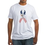 Patriotic Ribbon w/Eagle #2 Fitted T-Shirt