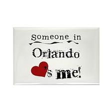 Orlando Loves Me Rectangle Magnet