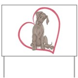 NBlu Pup Heartline Yard Sign