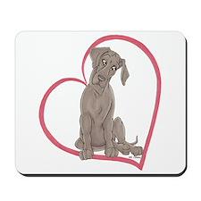 NBlu Pup Heartline Mousepad
