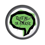 Trust me, I'm a nurse Wall Clock