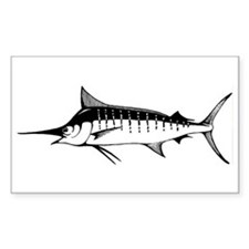 Blue Marlin Rectangle Decal
