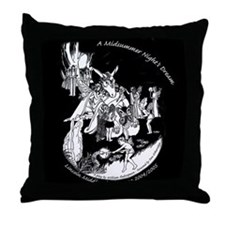 Midsummer Night's Drama Throw Pillow