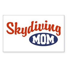 Skydiving Mom Rectangle Decal