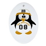 tux big brother Oval Ornament