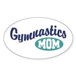 Gymnastics Mom Oval Sticker