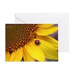 Ladybugs on Flowers Greeting Card