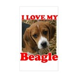 Beagle Rectangle Decal