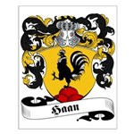 Haan Family Crest Small Poster