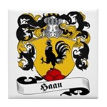 Haan Family Crest Tile Coaster