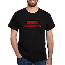 Caution: Contents HOT! T-Shirt