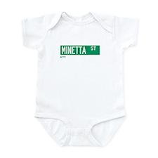 Minetta Street in NY Infant Bodysuit