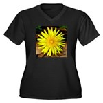 Dandelion Women's Plus Size V-Neck Dark T-Shirt